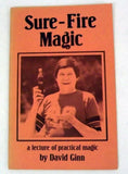 Sure-Fire Magic a lecture by David Ginn-Book