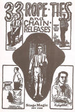 33 Rope Ties and Chain Releases by Burling Hull - Book