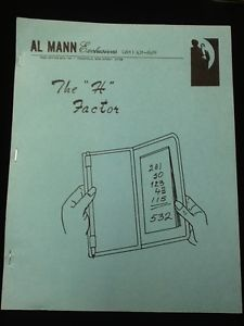 "The ""H"" Factor by Al Mann - Book"
