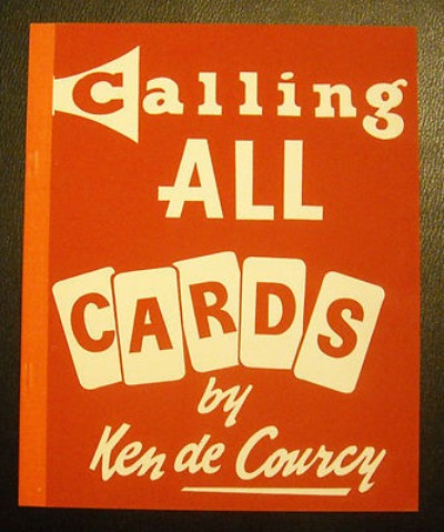 Calling all Cards by Ken De Courcy - Book