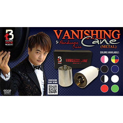 Vanishing Cane (Metal / Black and White) by Taiwan Ben Magic - Trick