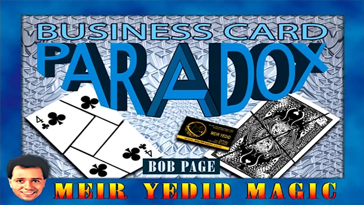 Business Card Paradox -Trick by Bob Page
