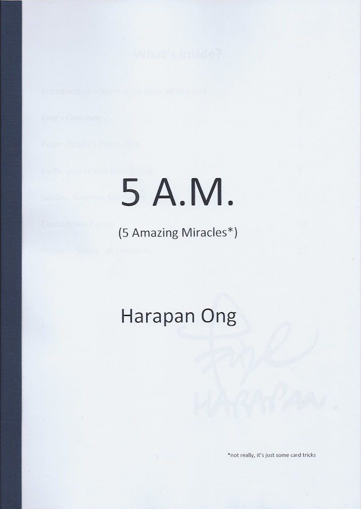 5 A.M. (5 Amazing Miracles*) by Harapan Ong (Signed) - Book