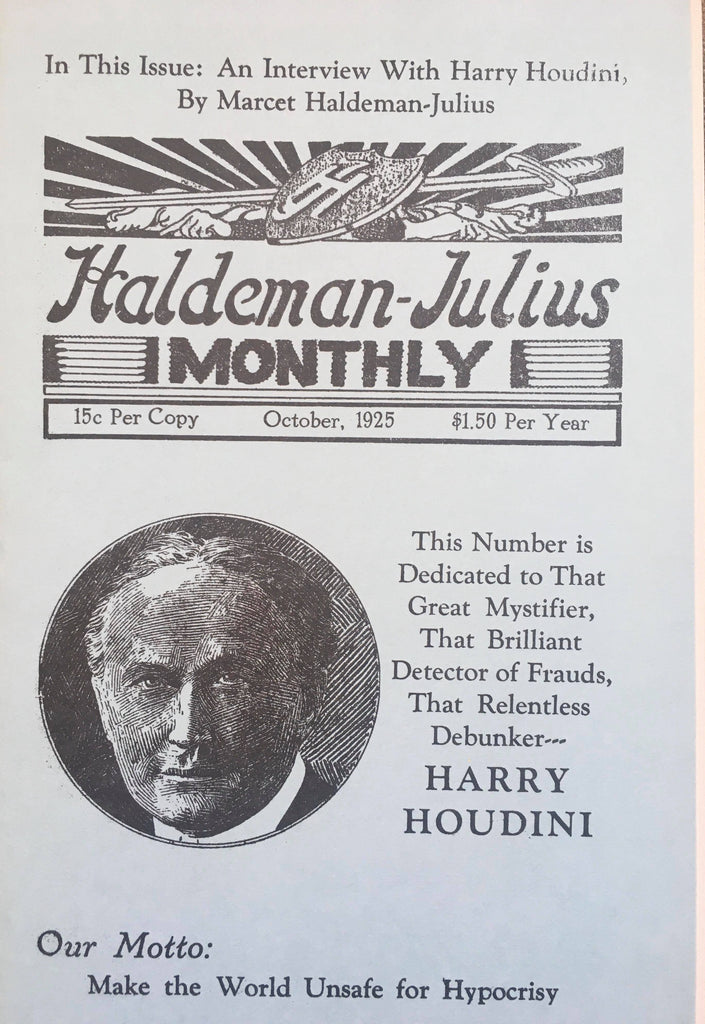 Haldeman Julius Monthly  Houdini Interview - Book