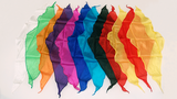 Diamond Cut Silk Handkerchiefs - Assorted Colors and Sizes