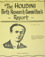 The Houdini Birth Research Committee's Report by Lawrence Arcuri - Book