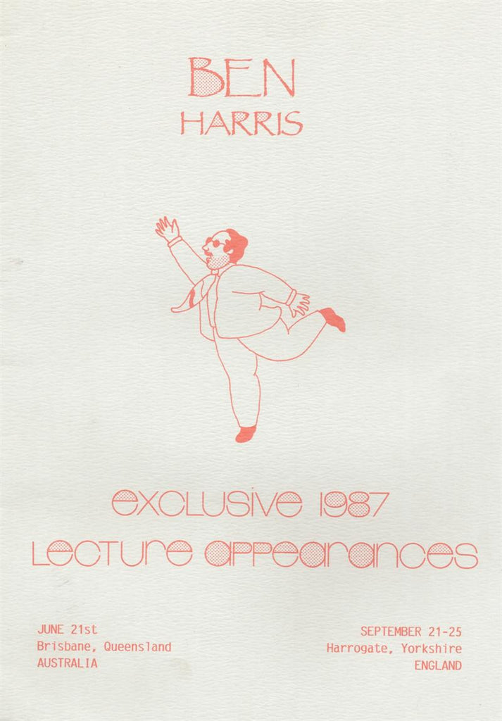 Exclusive 1987 Lecture Appearances by Ben Harris - Book