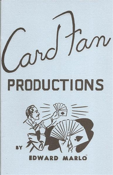 Card Fan Productions by Ed Marlo - Book