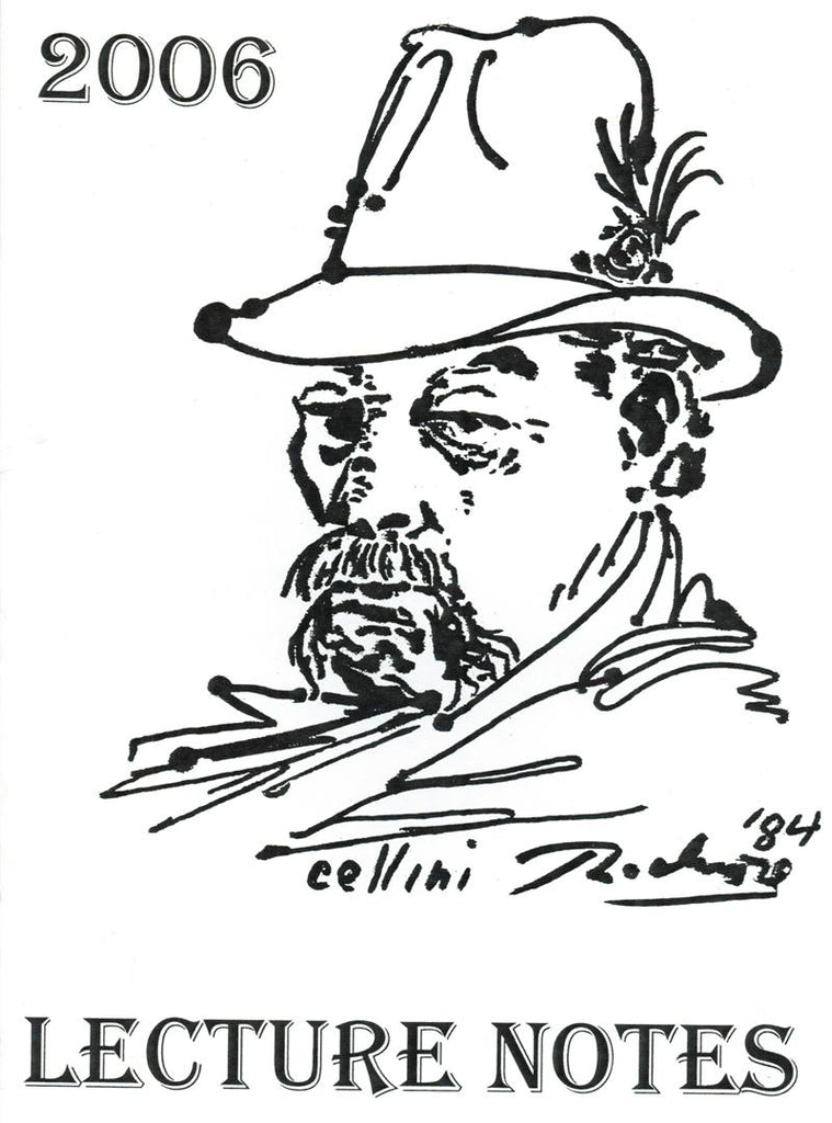 Cellini Lecture Notes 2006 - Book