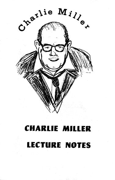 Charlie Miller Lecture Notes by Charlie Miller - Book