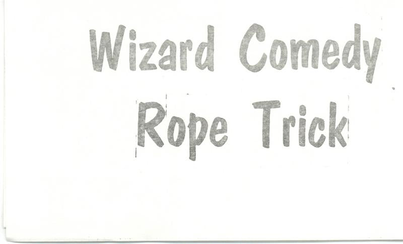 Wizard Comedy Rope Trick