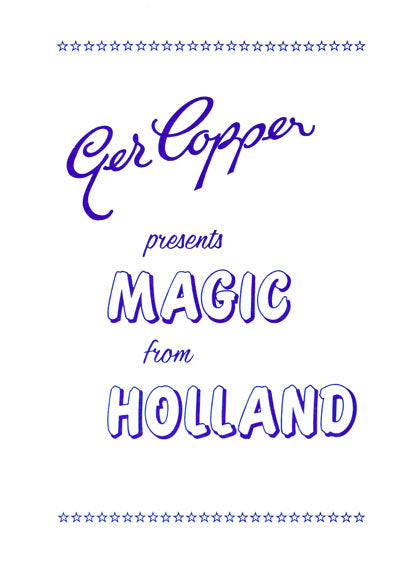Magic from Holland by Ger Copper - Book