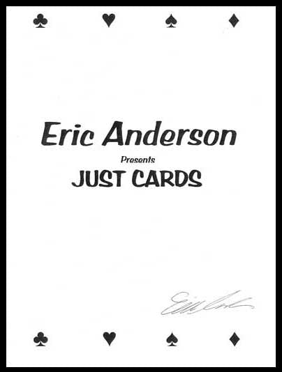 Eric Anderson Presents Just Cards  - Book