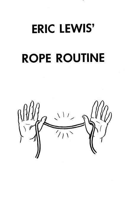 Triple Cut Rope Routine by Eric Lewis - Book