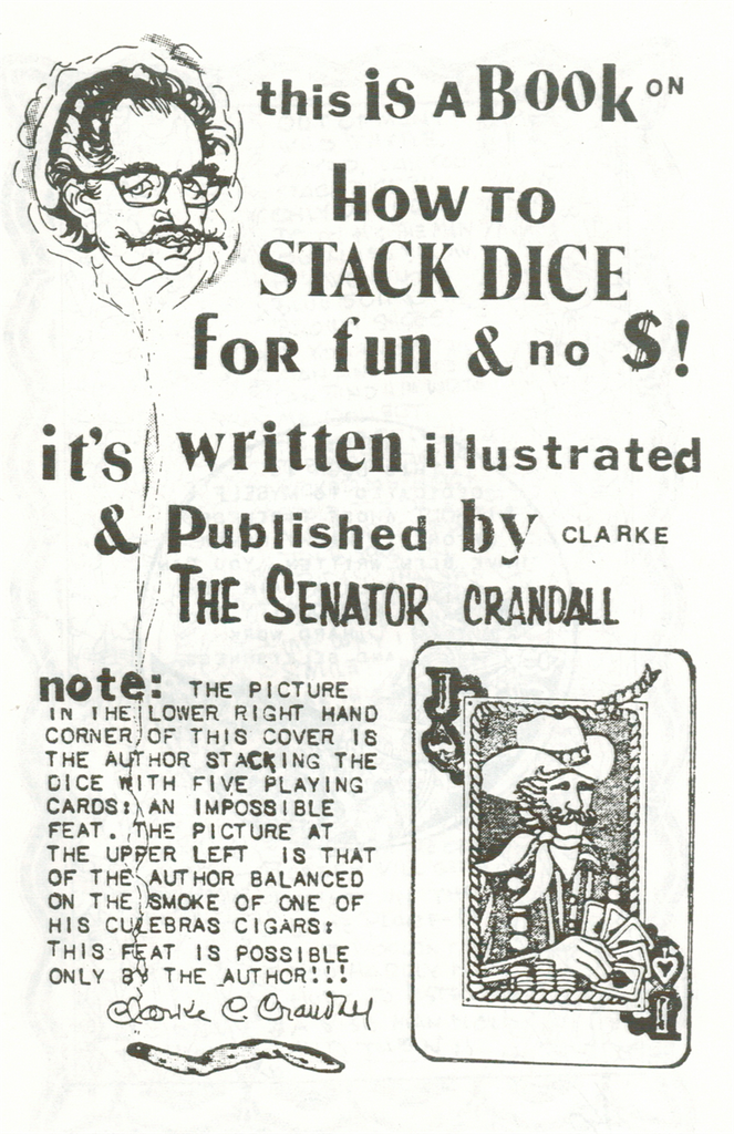 How To Stack Dice by Senator Clark Crandall - Book