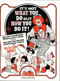 "It's Not What You Do, but How You Do It! Magic Routines with Standard Props by Don ""The Clown"" Sminkey - Book"