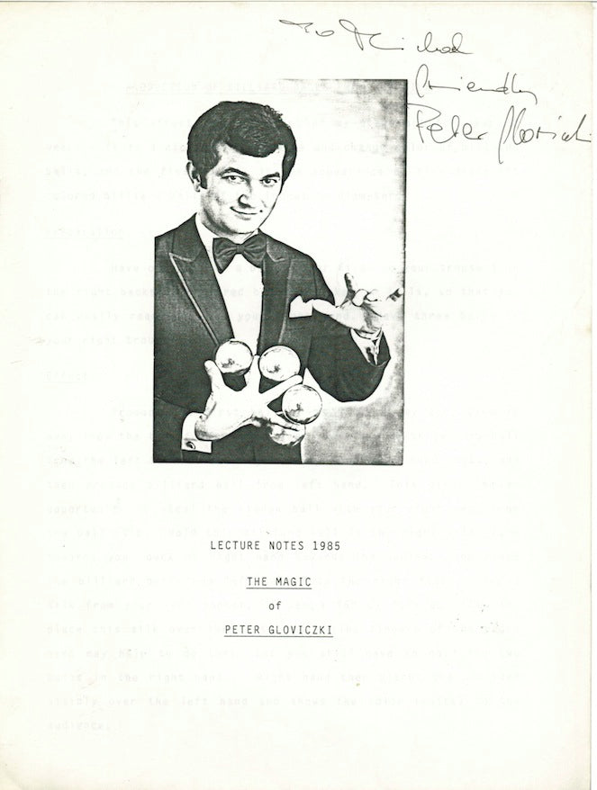 Lecture Notes 1985 The Magic of of Peter Gloviczki by Peter Gloviczki - Book
