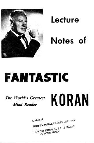 Fantastic Koran Lecture Notes - Book