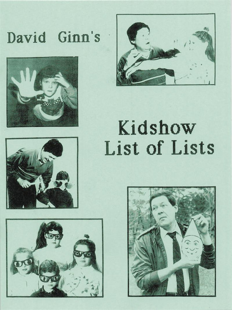 Kidshow List of Lists by David Ginn - Book