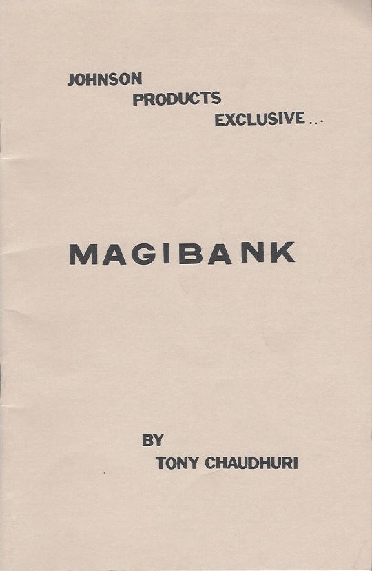 Magibank by Tony Caudhuri - Book