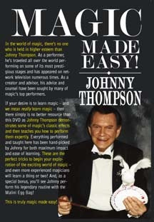 Magic Made Easy! by Johnny Thompson - DVD