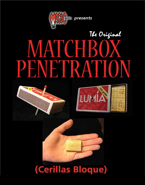 The Original Matchbox Penetration (Cerillas Bloques) by Magic Inc.