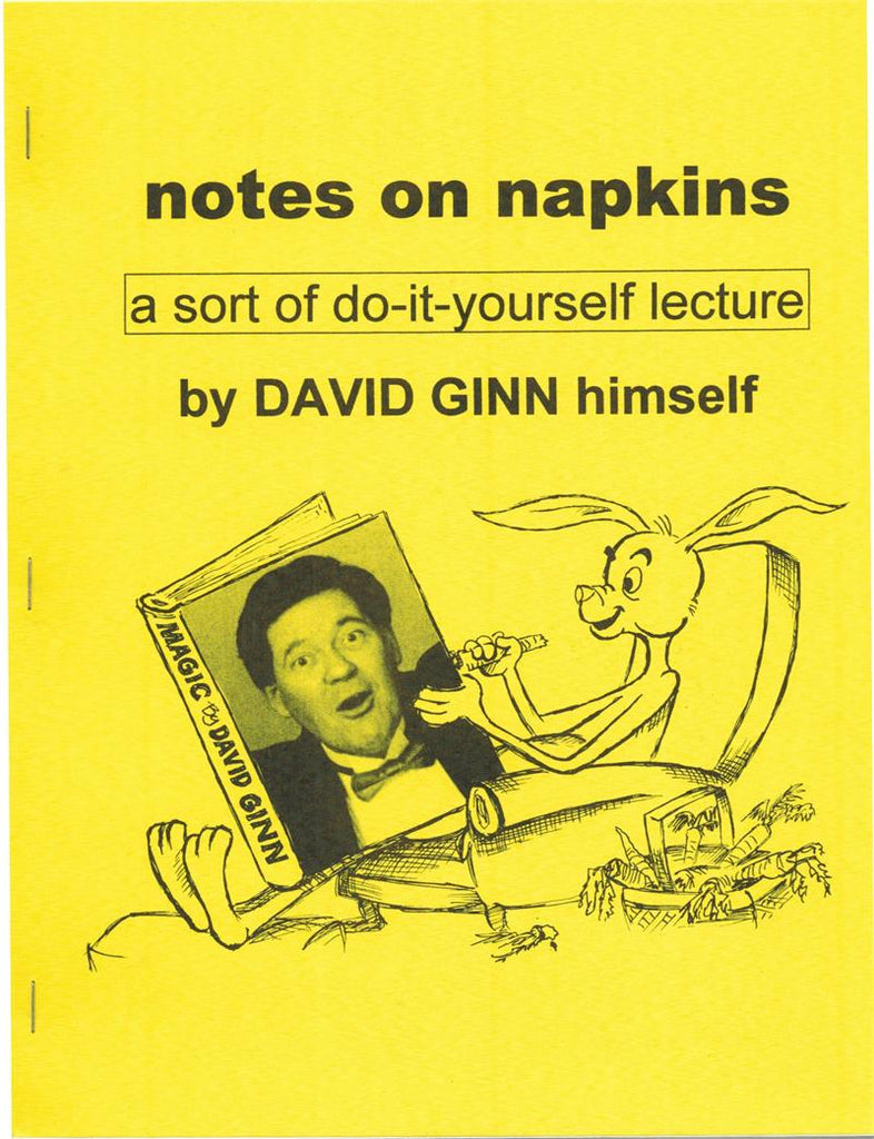 Notes on Napkins Lecture Notes by David Ginn - Book