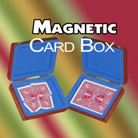 Magnetic Wood Card Box - Trick