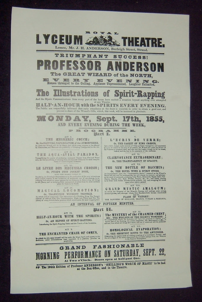 Professor Anderson - Royal Lyceum Theatre Poster
