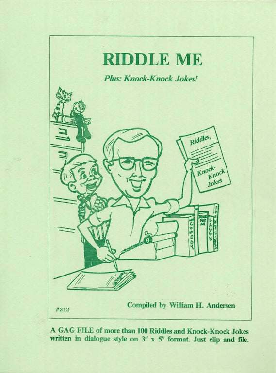 Riddle Me by William H. Andersen - Book