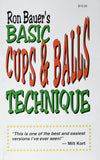 Basic Cups & Balls Technique book - Ron Bauer