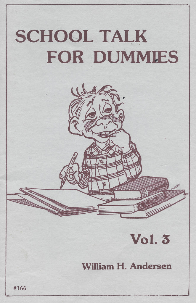 School Talk For Dummies Vol.3 by William H. Andersen - Book