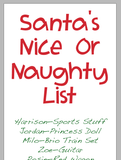 Santa's Naughty or Nice List by Scott Green