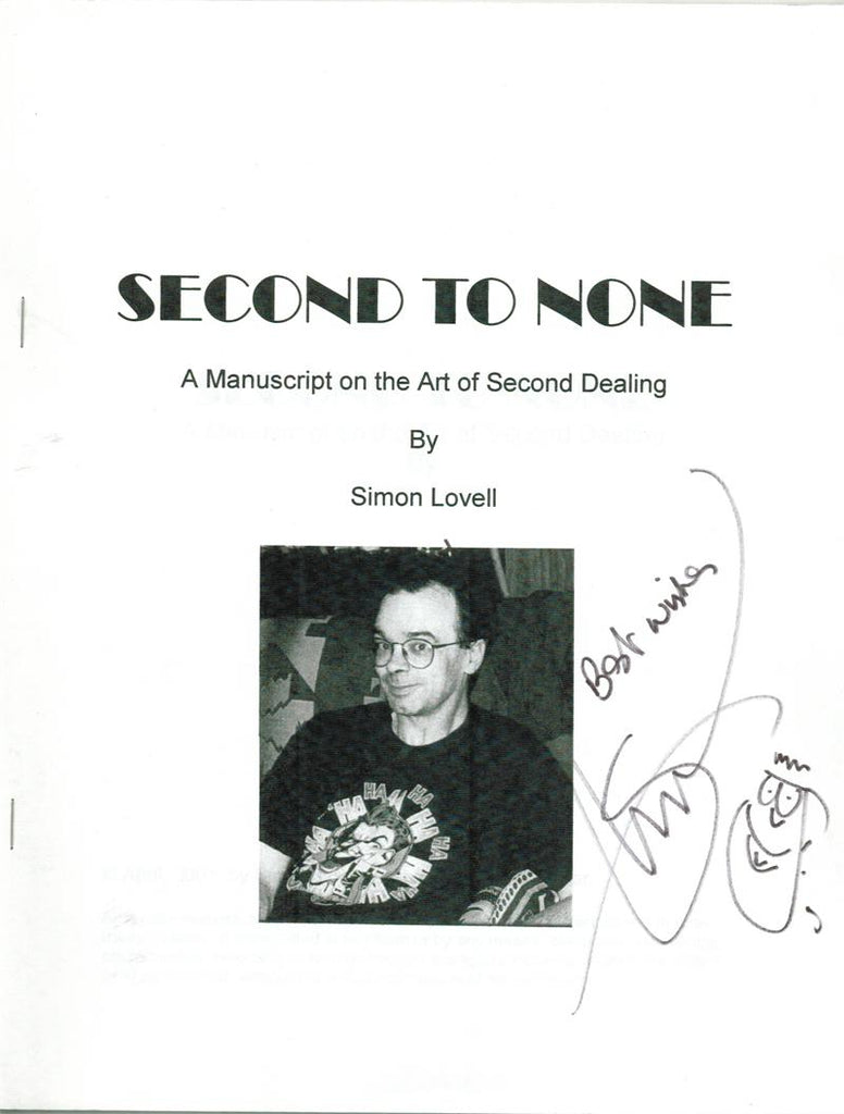 Second to None - A Manuscript on the Art of Second Dealing by Simon Lovell - Book