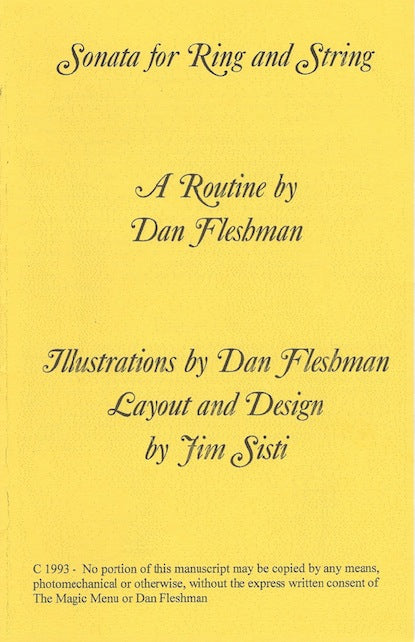 Sonata for Ring and String by Dan Fleshman - Book