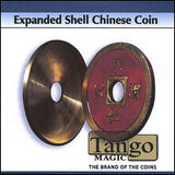 Expanded Shell Chinese Coin made in Brass (Red) by Tango - Trick (CH007)