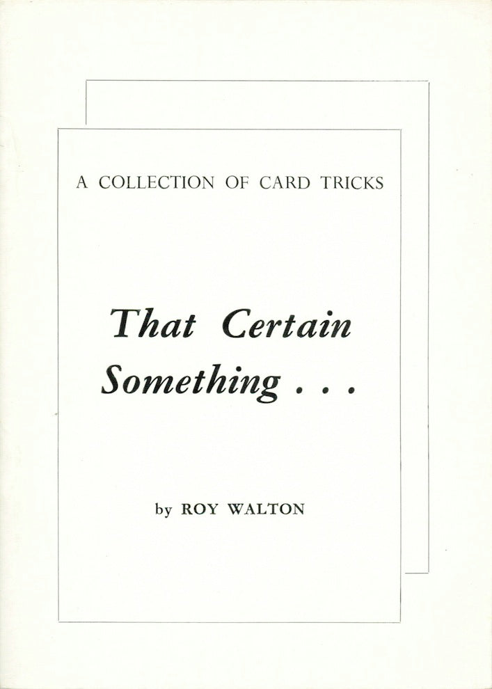 That Certain Something by Roy Walton - Book