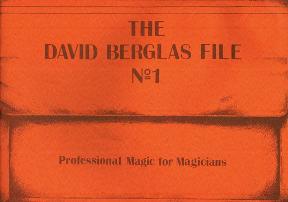 The David Berglas File No. 1 Lecture Notes - Book