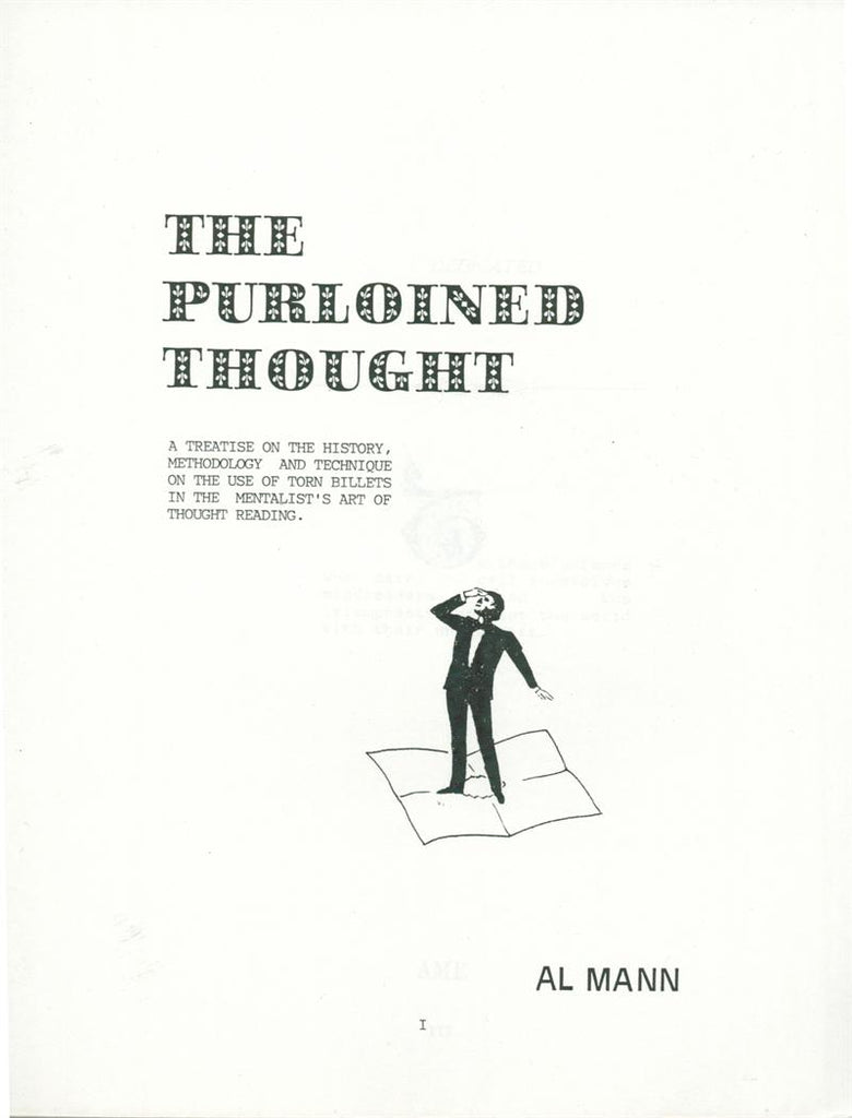 The Purloined Thought by Al Mann - Book
