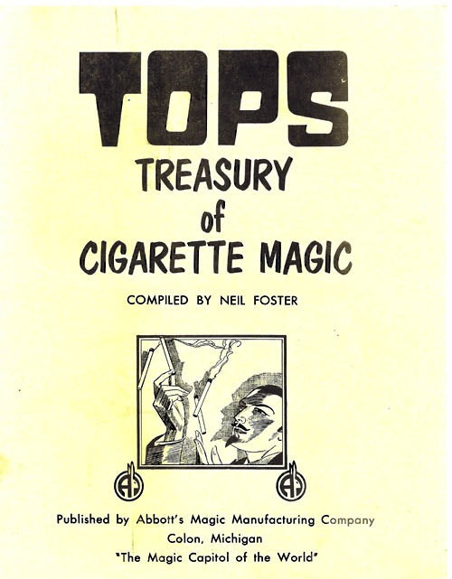Tops Treasury of Cigarette Magic by Neil Foster - Book