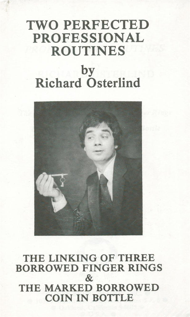 Two Perfected Professional Routines by Richard Osterlind - Book