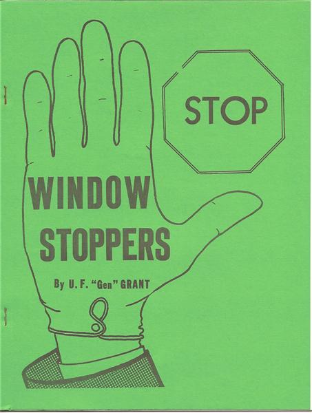 Window Stoppers by U.F. Grant - Book