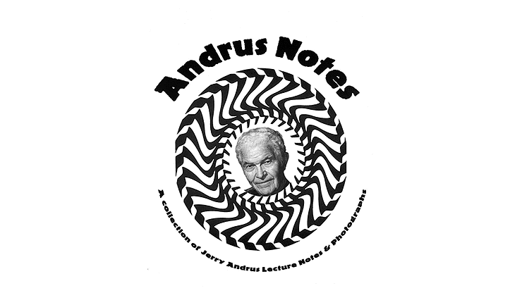 The Andrus Notes - The Magic of Jerry Andrus - Book