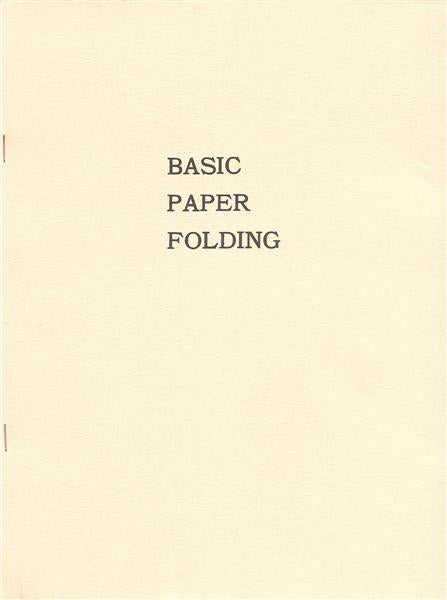 Basic Paper Folding by Sam Randlett - Book
