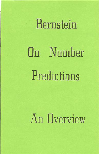 Bernstein on Number Predictions by Bruce Bernstein - Book