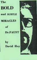 The Bold and Subtle Miracles of Dr. Faust by David Hoy - Book