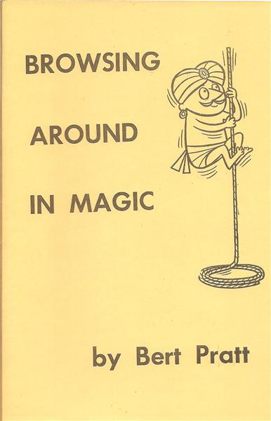 Browsing Around in Magic by Bert Pratt - Book