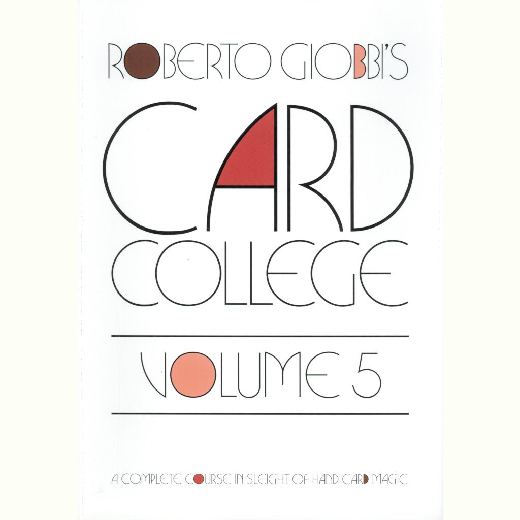 Card College Series by Roberto Giobbi - Book