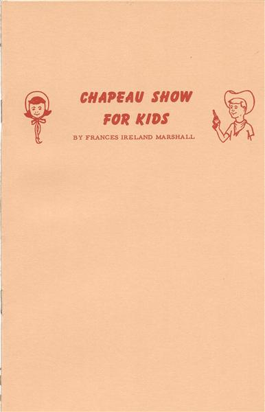 Chapeau Show For Kids by Frances Ireland Marshall - Book