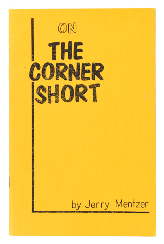 On the Corner Short by Jerry Mentzer - Book